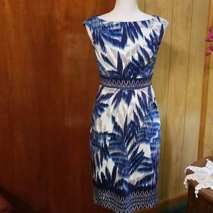 Adrianna Papell Palm Leaves Dress, Size 2